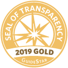 2019 Gold seal of transparency from GuideStar