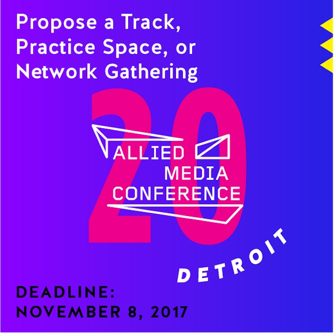Poster to Propose a Track, Practice Space, or Network Gathering at the 20th AMC in 2018