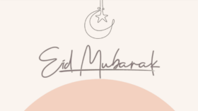 """Title page with the words """"Eid Mubarak: Seven Tips to Make Your Eid Inclusive and Just: """"The believers in their mutual kindness, compassion, and sympathy are just like one body"""" Prophet Muhammad (Peace be Upon Him) with the MuslimARC logo in the bottom right corner."""