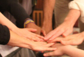 Hands joined in the middle