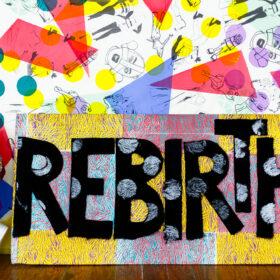 Rebirth fabric collage