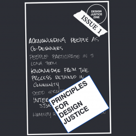 """Cover of """"Principles for Design Justice"""" from the """"Design Justice Zine Issue 1"""""""