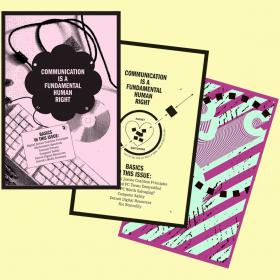 Three zine covers